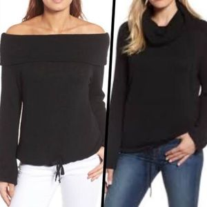 Caslon Black Convertible Neckline Off Shoulder Top
